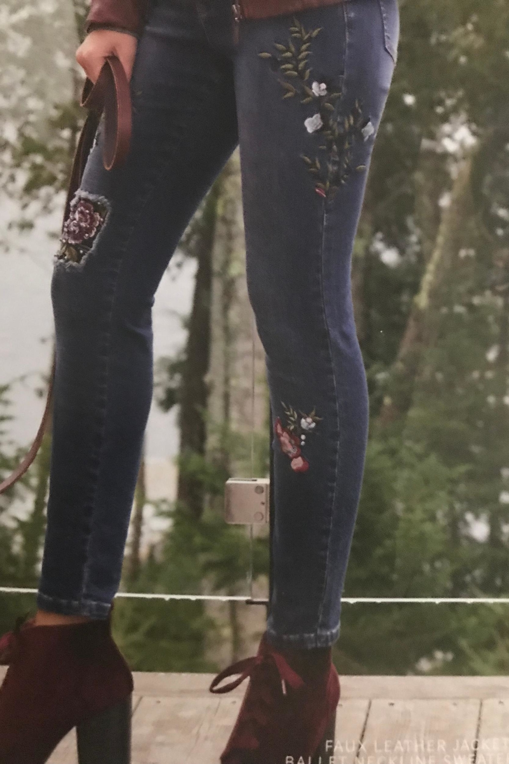 FDJ Jeans  Embroidered Denim Jeans - Main Image
