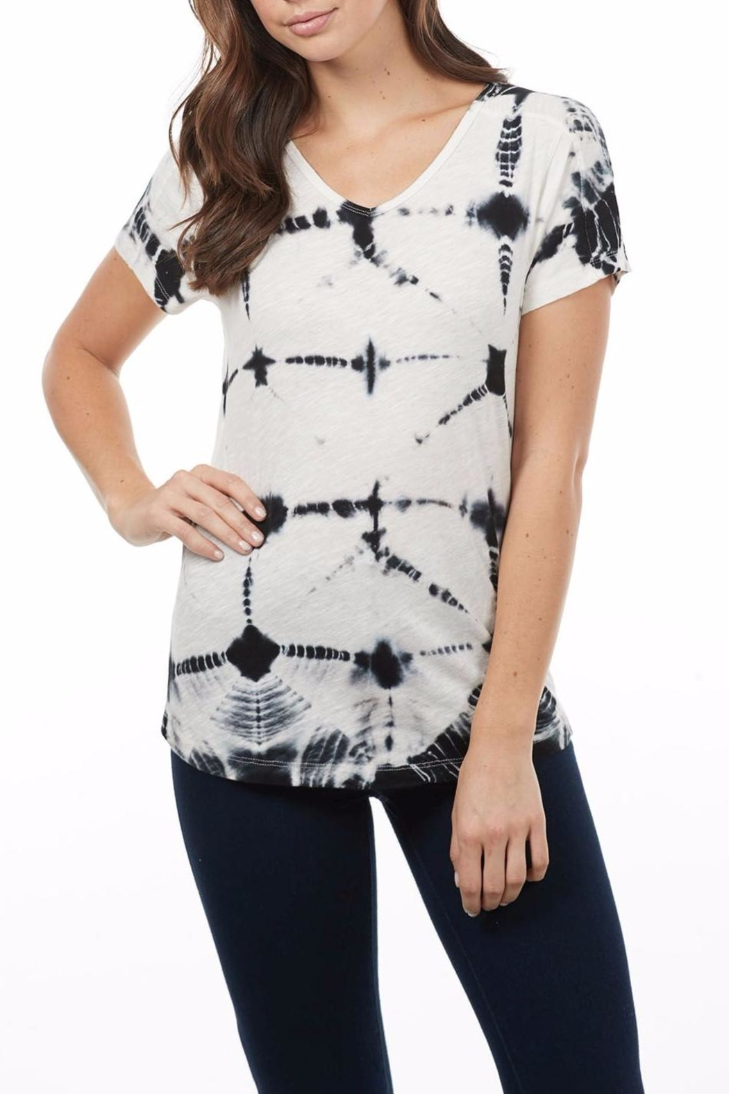 FDJ Jeans  Tie Dye Tee Top - Front Cropped Image