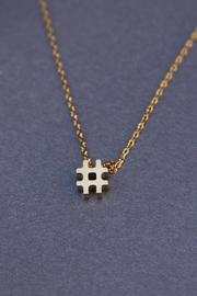 Reija Eden Jewelry Hashtag Necklace - Front cropped