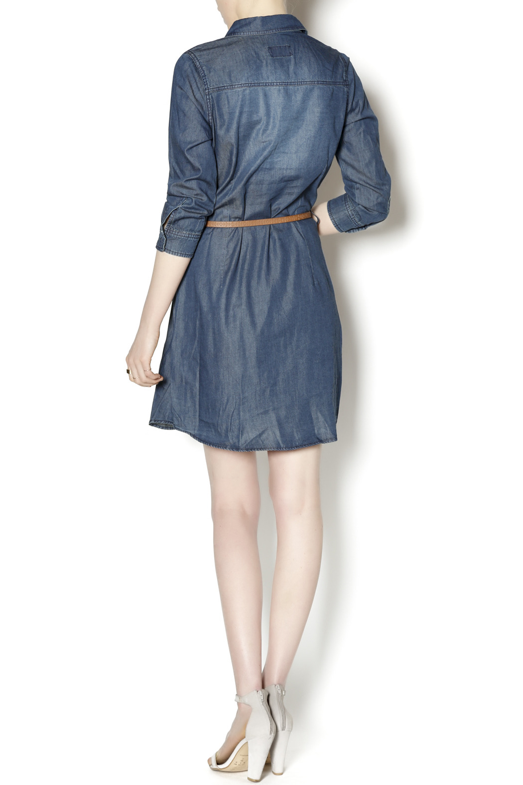 ci sono belted denim dress from tennessee by the owl cove
