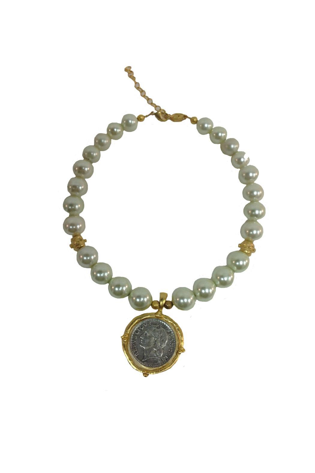 shaws jewelry susan shaw coin pearl necklace from louisiana by 963