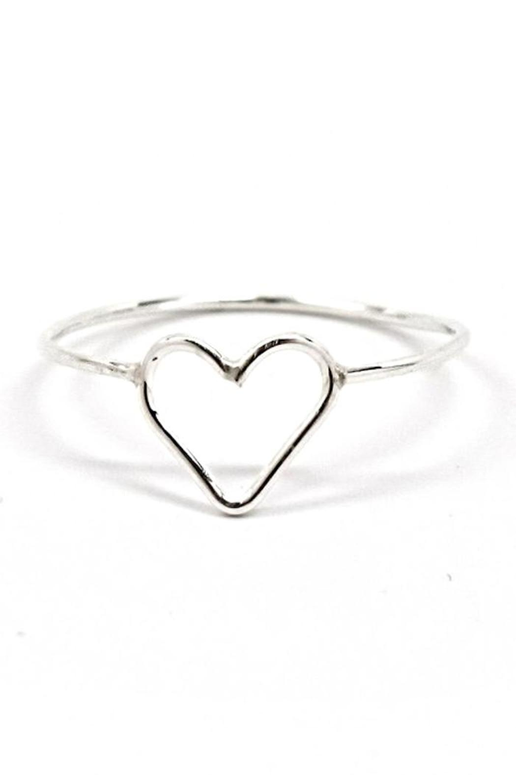 Fresh Tangerine Heart Ring - Front Cropped Image