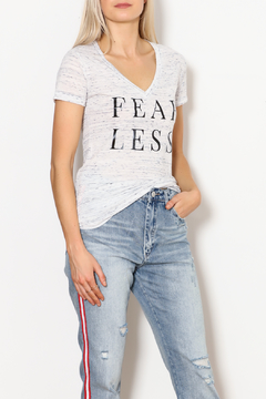 Shoptiques Product: Fearless Woman V Neck Tee