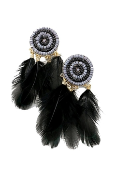 Shoptiques Product: Feather Bead Earrings