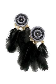 Lets Accessorize Feather Bead Earrings - Product Mini Image
