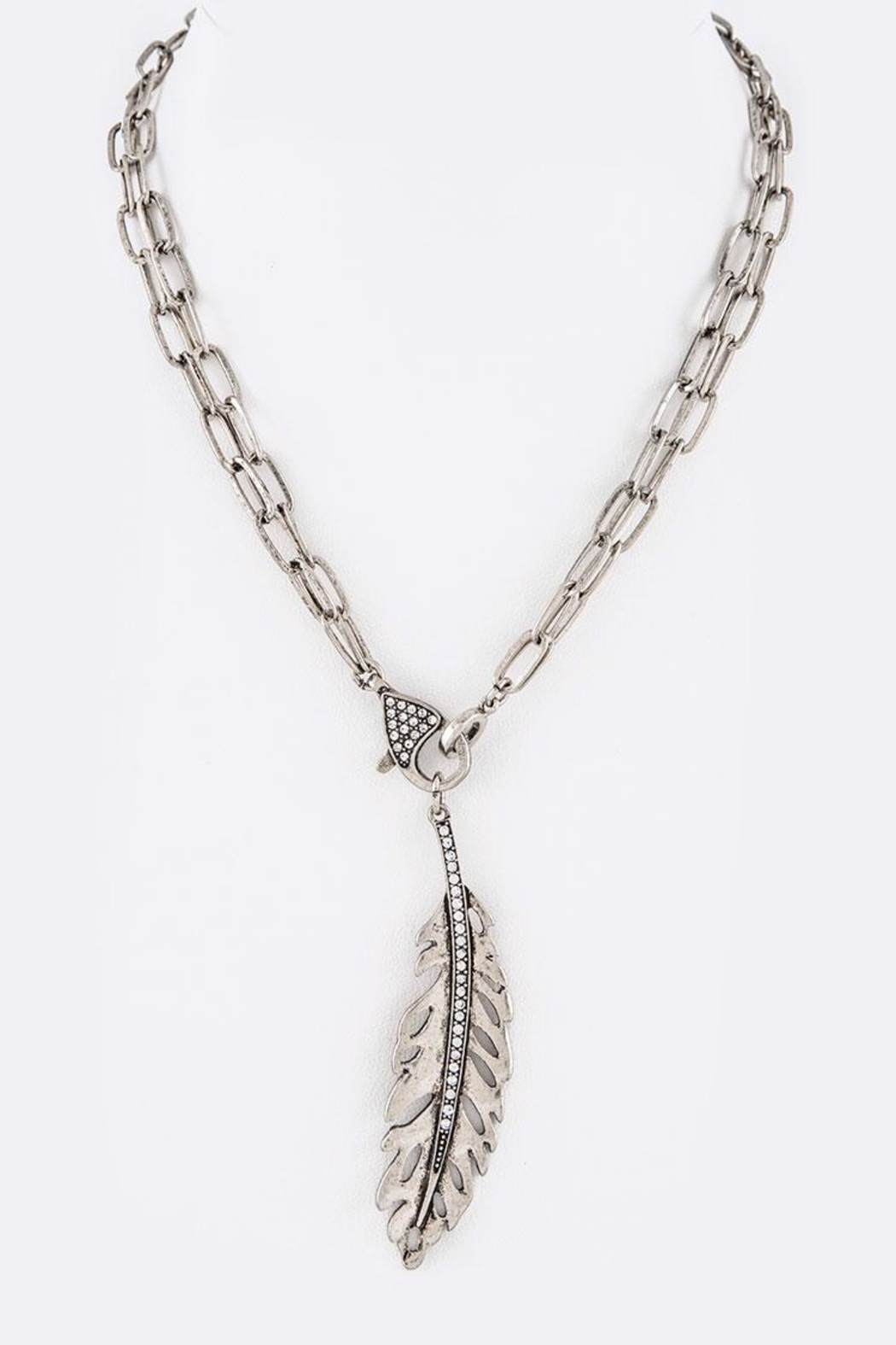 Nadya's Closet Feather Convertible Necklace - Main Image
