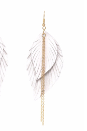 US Jewelry House Feather Drop Earrrings - Product Mini Image