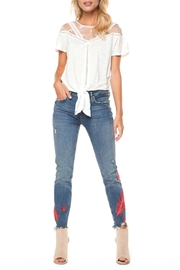 Dex Feather Embroidered Jeans - Product Mini Image