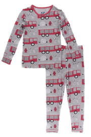 Kickee Pants Feather Firefighter Pajama Set - Product Mini Image