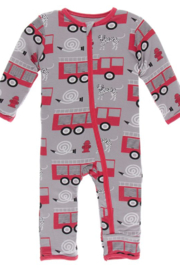 Kickee Pants Feather Firefighter Zipper Coverall - Product Mini Image