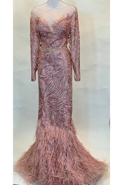 Terani Couture FEATHER GOWN - Product Mini Image