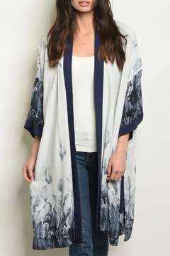 FATE by LFD Feather Grey/navy Kimono - Product List Image