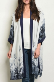 FATE by LFD Feather Grey/navy Kimono - Product Mini Image