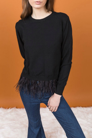Allison Collection Feather Hem Sweater - Product Mini Image