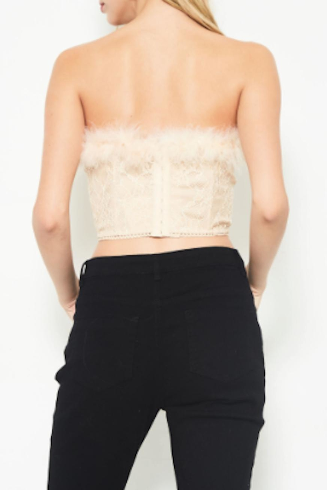 TIMELESS Feather Lace Top - Side Cropped Image