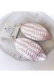 Cecelia Designs Jewelry Feather Leather Earring Collection - Product Mini Image