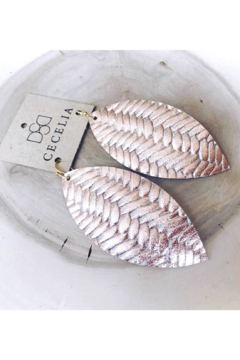 Cecelia Designs Jewelry Feather Leather Earring Collection - Alternate List Image