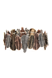 Riah Fashion Feather-Line Cast-Stretch-Bracelet - Product Mini Image