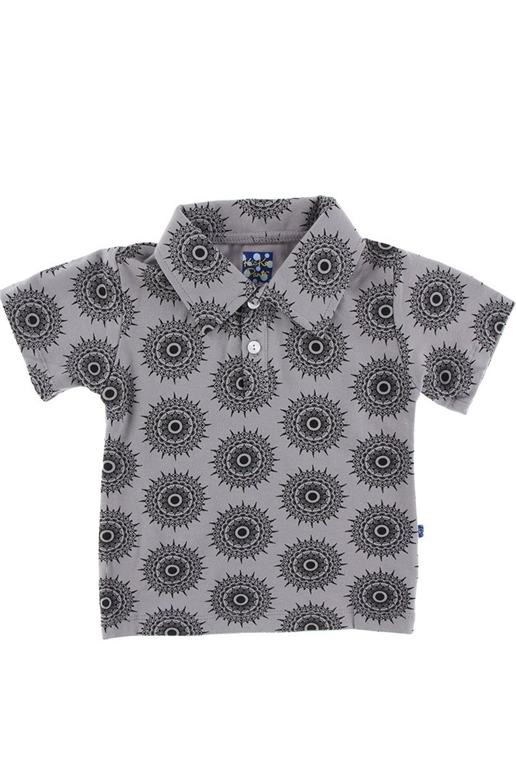 Kickee Pants Feather Mandala Polo - Front Cropped Image