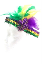 Crystal Avenue Feather Mardi Gras Headband - Product Mini Image