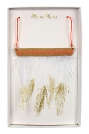 Meri Meri Feather Necklace - Front cropped