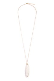 Riah Fashion Feather Pendant Necklace - Product Mini Image