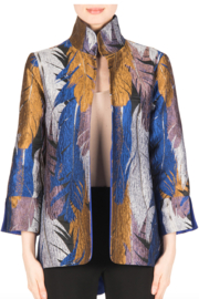 Joseph Ribkoff Feather Print Jacket - Product Mini Image