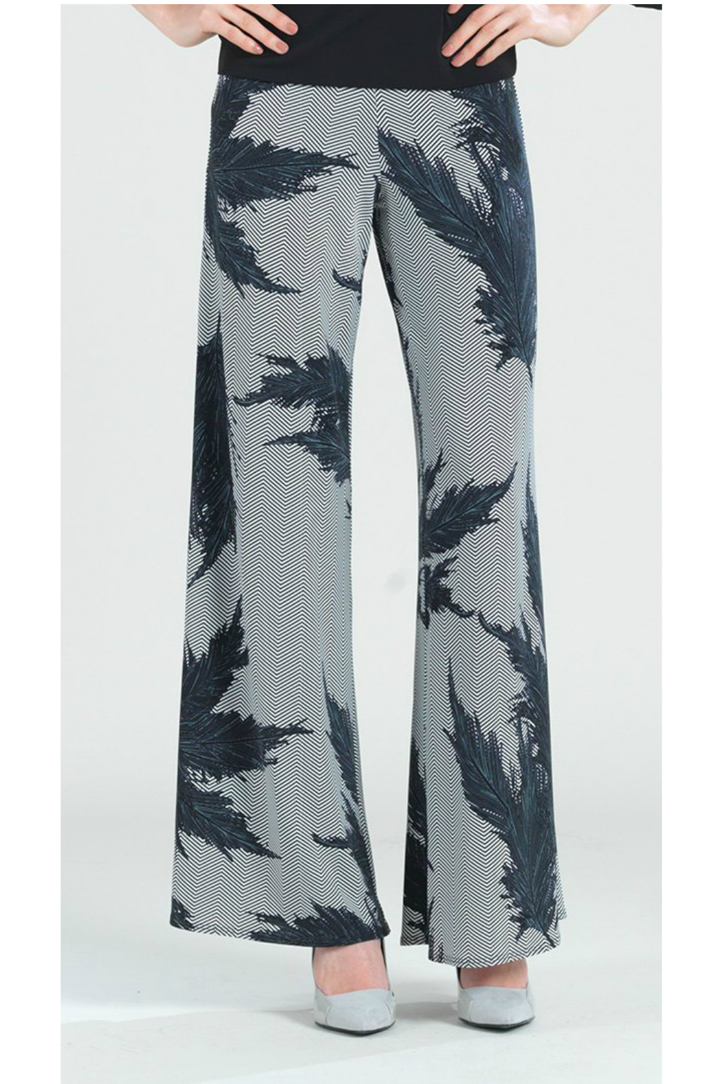 Clara Sunwoo Feather print palazzo pant - Main Image