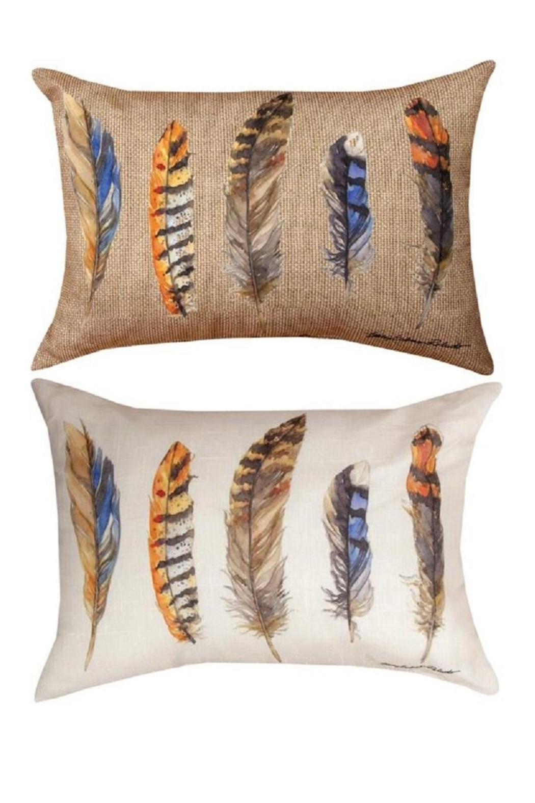 MWW Feather Print Pillows - Main Image