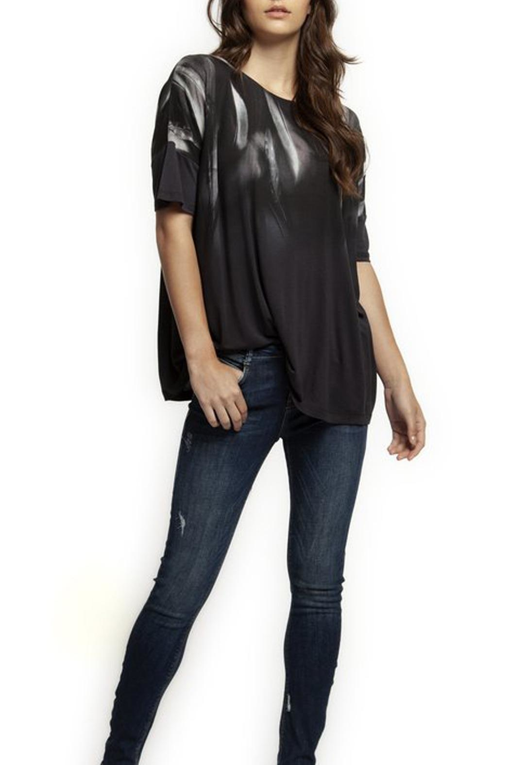Dex Feather Print Tee - Front Cropped Image