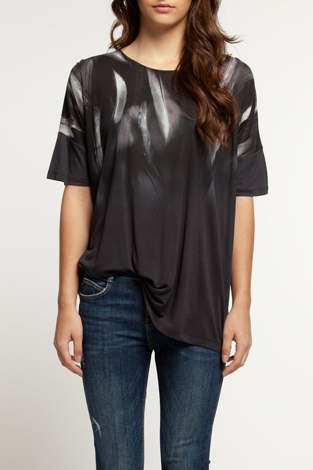 Dex Feather Print Tee - Front Full Image
