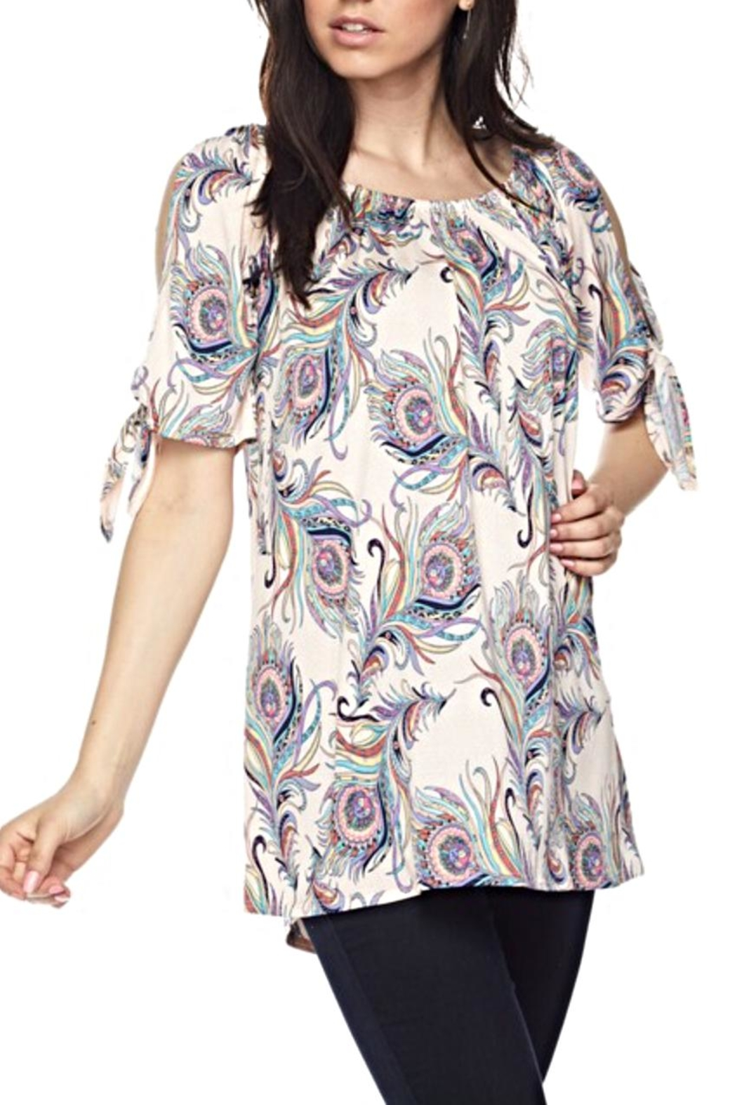 KITTY COUTURE  Feather Print Tunic - Main Image