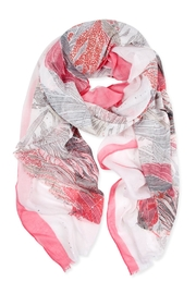 Riah Fashion Feather Printed Scarf - Product Mini Image
