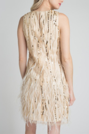 Minuet Feather & Sequin Dress - Side cropped