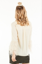 Very J Feather Sleeve Blouse - Side cropped