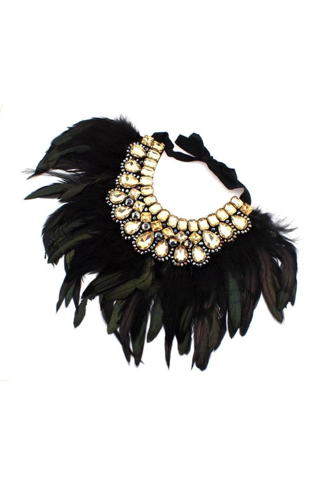 Madison Avenue Accessories Feather Statement Champagne - Main Image