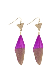 Wild Lilies Jewelry  Feather Statement Earrings - Product Mini Image