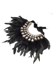 Madison Avenue Accessories Feather Statement Grey - Front cropped