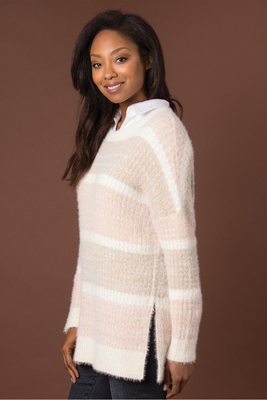 Simply Noelle Feather Weather Sweater - Front Full Image