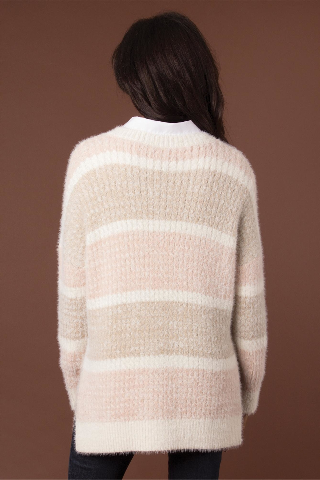 Simply Noelle Feather Weather Sweater - Side Cropped Image