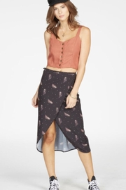 Knot Sisters Feather Wrap Skirt - Front full body