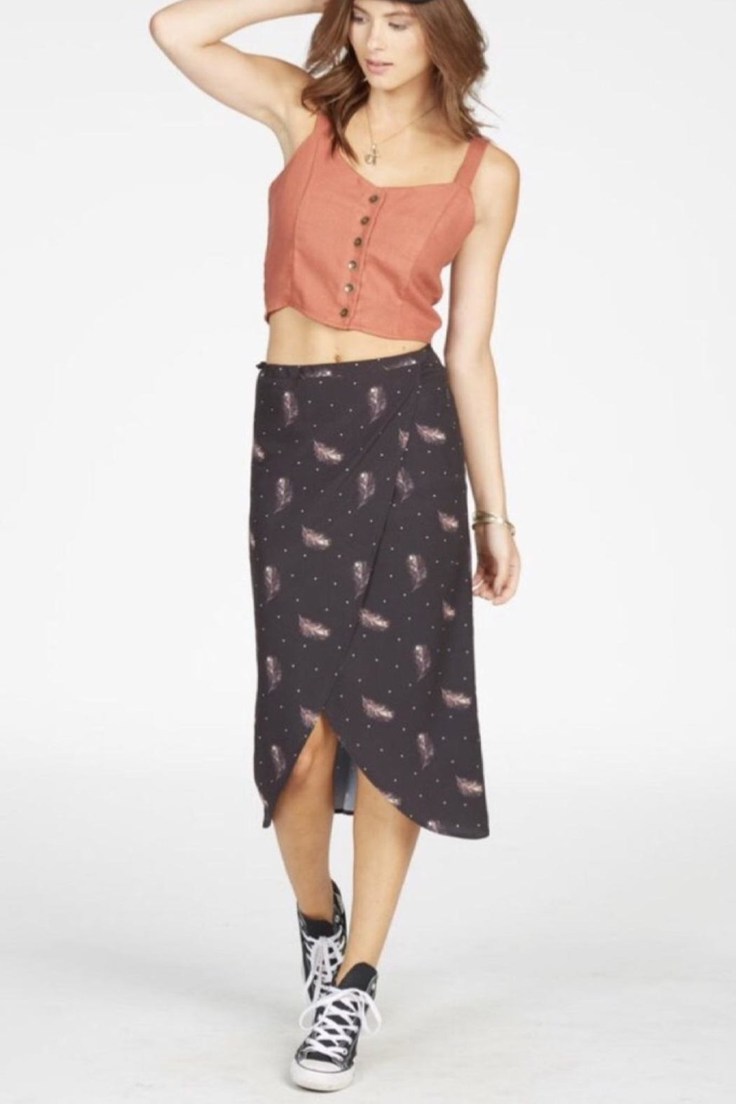 Knot Sisters Feather Wrap Skirt - Main Image