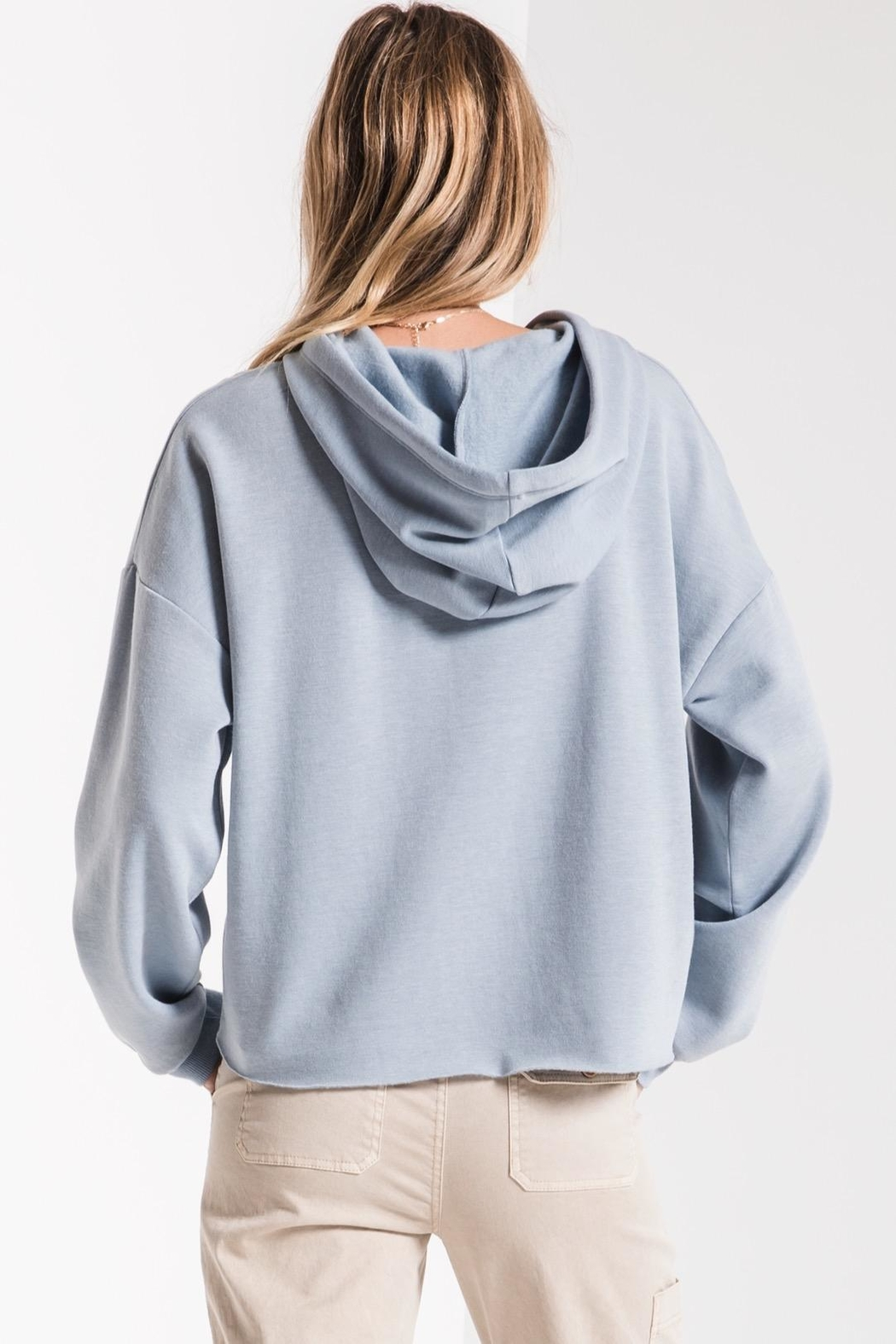 z supply Feathered Fleece Hoodie - Side Cropped Image