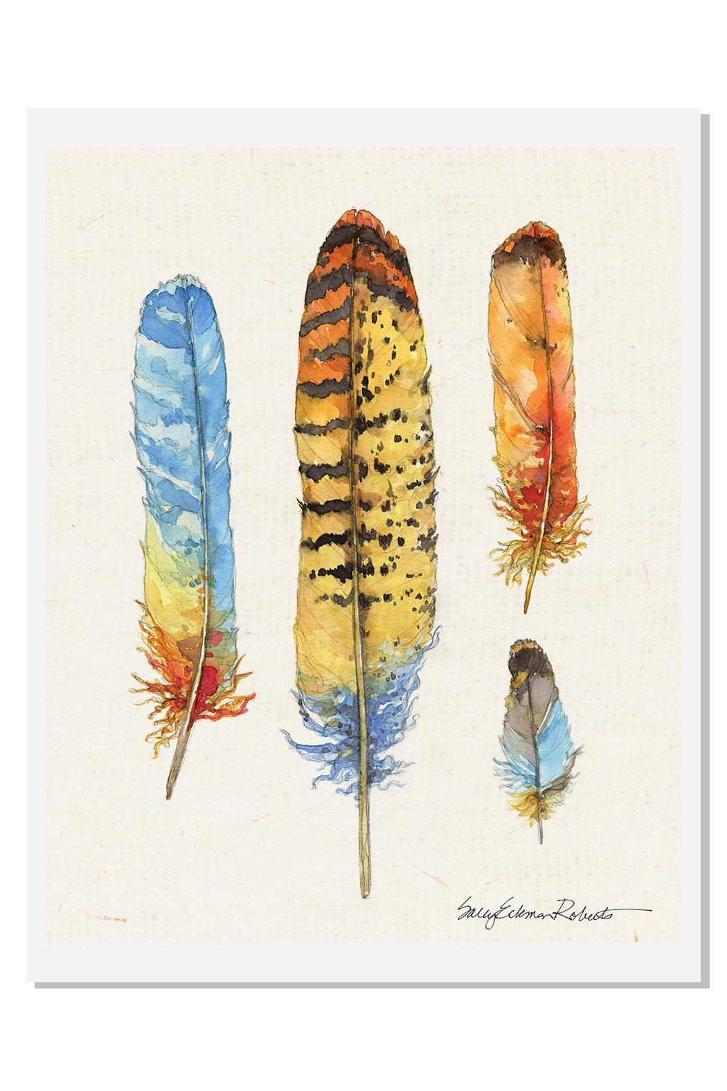 Sally Eckman Roberts Feathers Colorful Print - Main Image