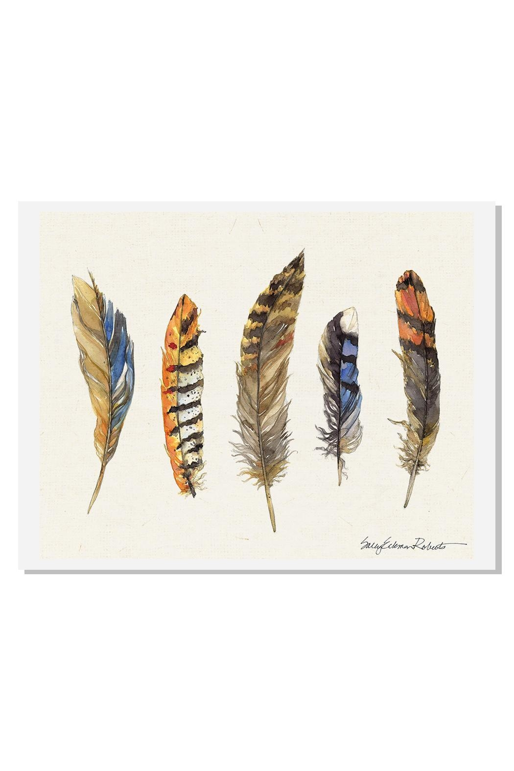 Sally Eckman Roberts Feathers Natural Print - Main Image