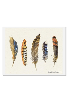 Sally Eckman Roberts Feathers Natural Print - Product List Image