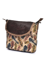 Cott N Curls Feathers Sling Bag - Front full body
