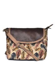 Cott N Curls Feathers Sling Bag - Front cropped
