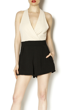 Danity Cream Black Romper - Product List Image