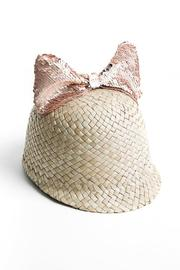 Federicamoretti Sequin-Bow Straw Hat - Product Mini Image